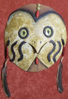 clay Owl mask wall hanging